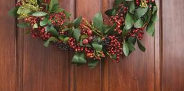 Welcome friends and family by decorating your entry for winter.