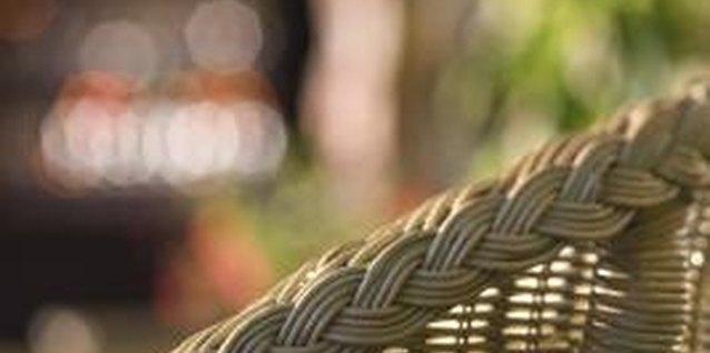 The four types of wicker available are bamboo, rattan, willow and weed.