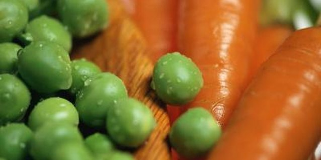 Peas and carrots both supply fiber.