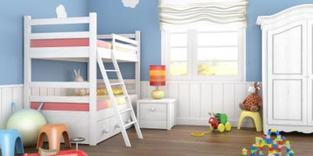 Storage cubicles help to separate your twins' toys and personal items.