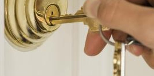 Deadbolts add security to the entrance of a home or business.