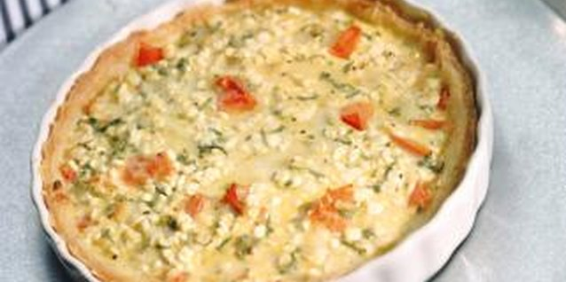 Frozen broccoli combined with eggs and cheese makes a nutritious quiche to serve to your family.