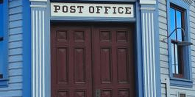 The post office is an exciting place for young children.
