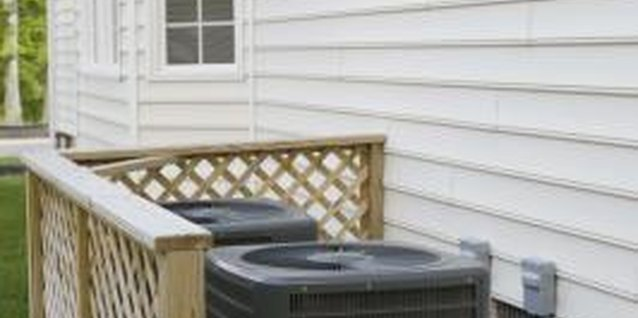 Outdoor air conditioning units tend to be unattractive in the landscape.