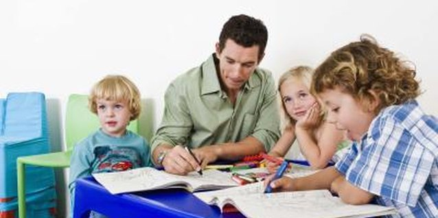 Your child answers questions and demonstrates skills during a preschool assessment.