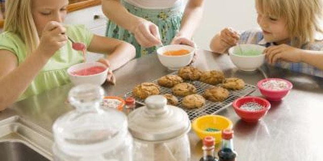 Decorating cookies with toddlers can be a blast - if you don't mind the mess!