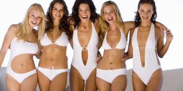 Bikinis come in a variety of cuts for different body types.