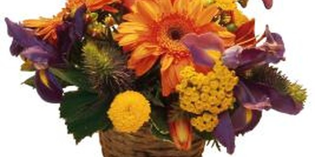 A fall floral basket spices up your table.