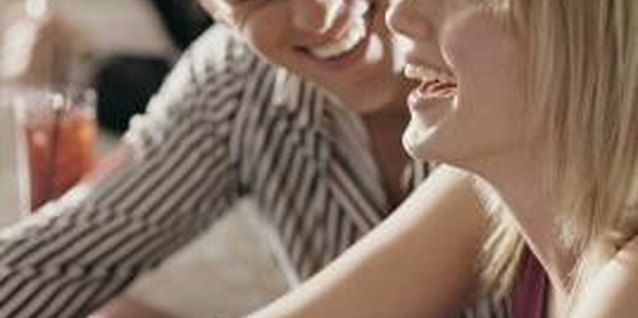 Laugh together during your date to bring out the sparkle in your eyes.