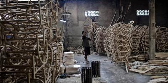 A rattan furniture manufacturer in West Java, Indonesia.