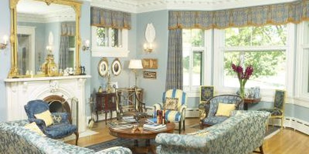 Use a bay window to highlight groups of furniture, like the table and chairs here.