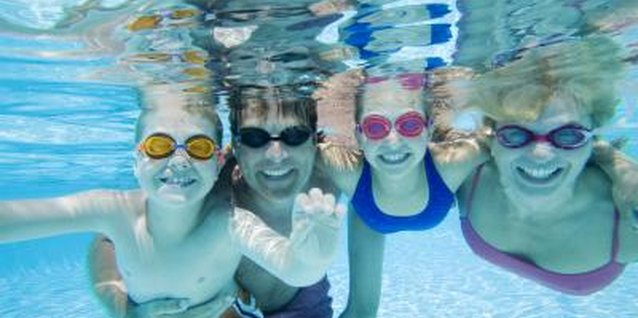 Goggles prevent eye irritation and make it easier to see in the water.