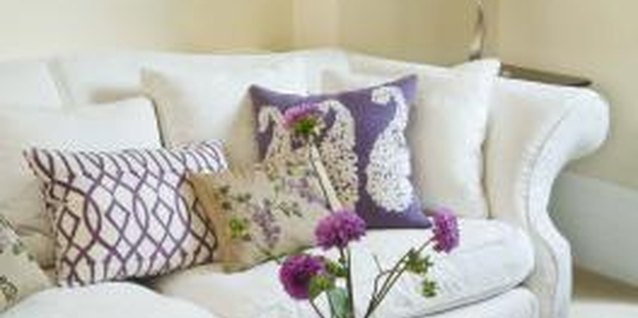 Cushions add decorative accents to the decor.