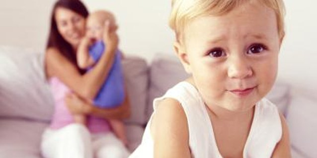 New siblings often trigger feelings of jealousy in older children.