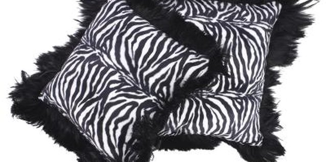 Zebra-patterned accessories add interest to your home.