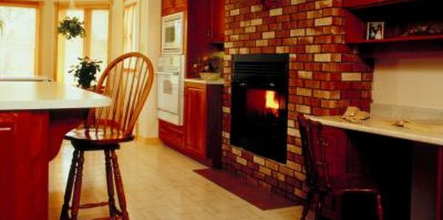 How to Decorate an All-Brick Fireplace That Goes to the Ceiling