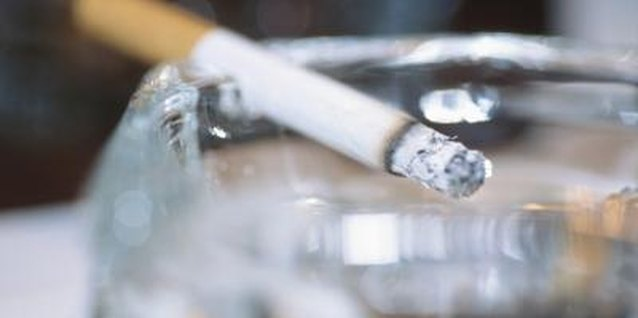 A hot cigarette can instantly leave a mark if it's allowed to touch the countertop.