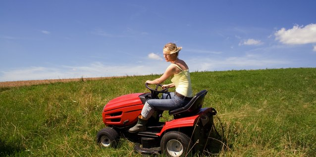 A front-engine lawn tractor is the best choice for a large yard.