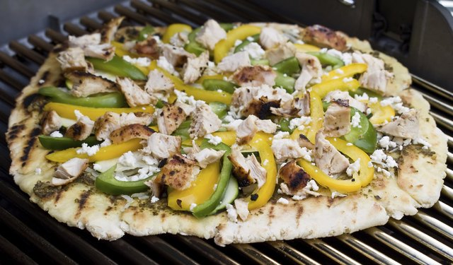 Gourmet Barbecued Pizza - Mediterranean Style