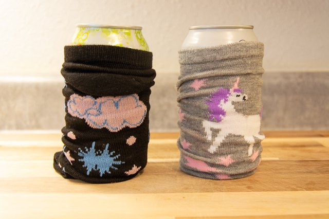 Use socks as a drink cozy