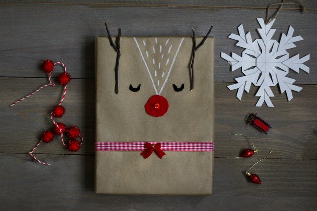 DIY Light-Up Rudolph Gift Wrap