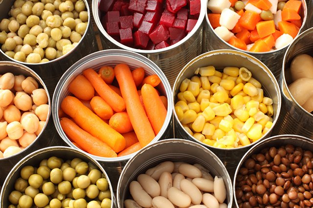 An image of canned vegetables.