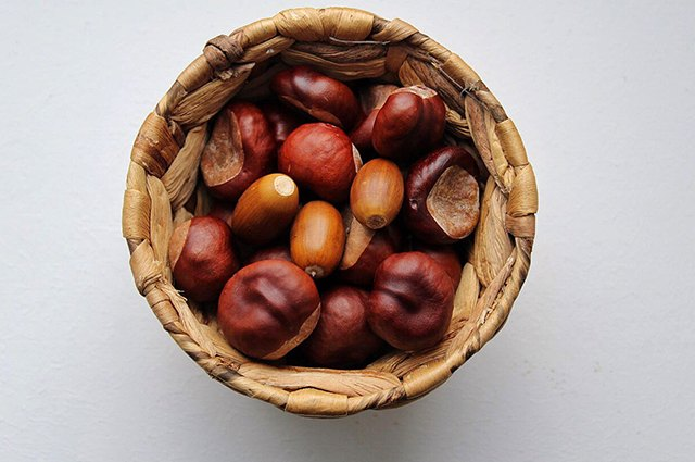An image of a bowl of chestnuts.