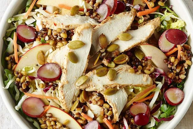Panera Bread's Ancient Grain & Arugula Salad With Chicken