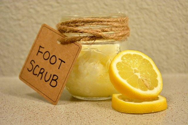 An image of lemon foot scrub.