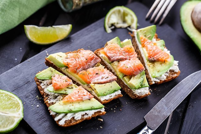 avocado toast with salmon