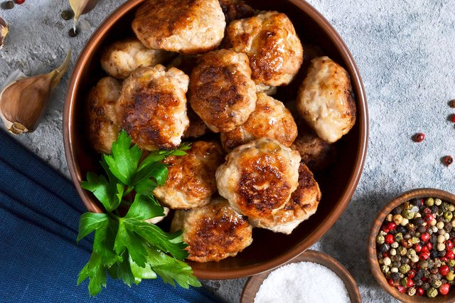 Meatballs with herbs and spices
