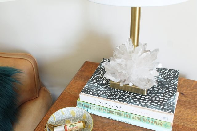 DIY Crystalized Lamp Base