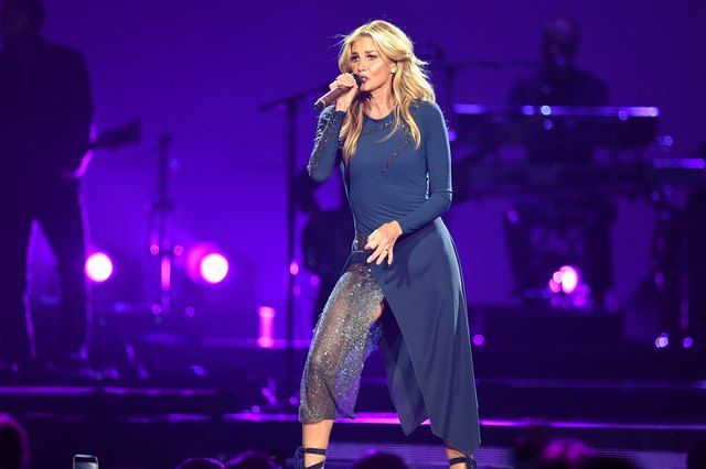 Faith Hill performing on stage