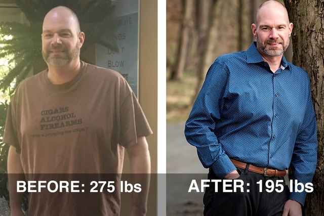 Scott H. before and after photos.