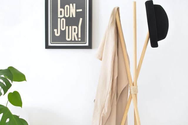 DIY teepee hat and coat rack