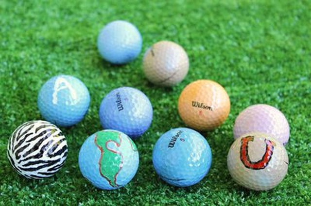 DIY personalized golf balls