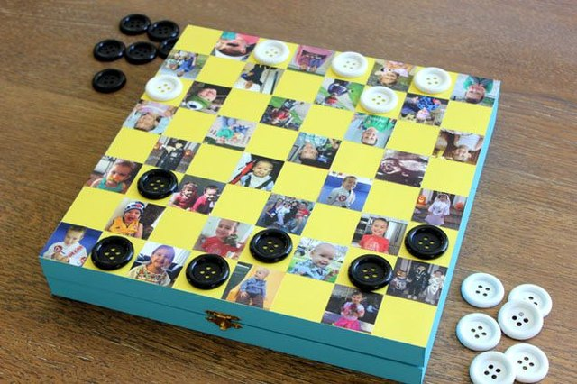 DIY personalized photo checkerboard
