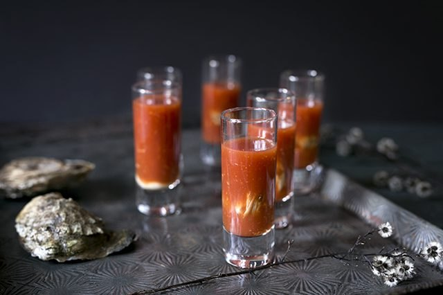 Bloody Mary oyster shooters recipe