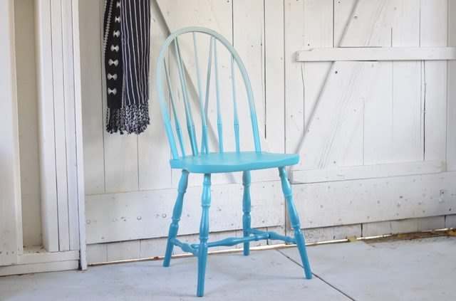 Vintage chair gets an ombré upgrade