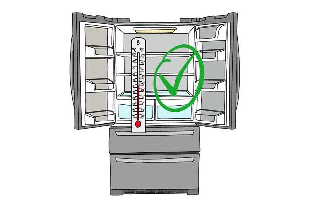 Refrigerator set to correct temperature