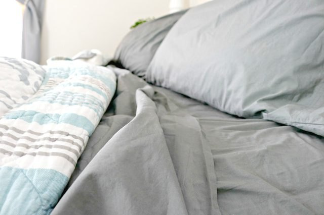 Clean bed sheets