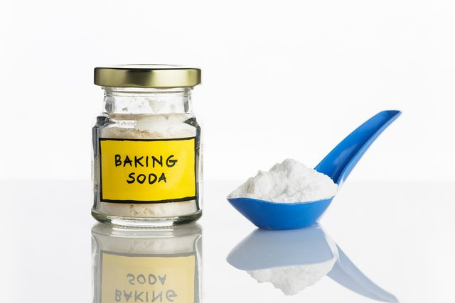 Close-Up Of Baking Soda Against White Background