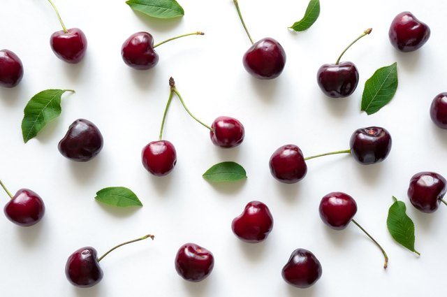 Ripe cherry background