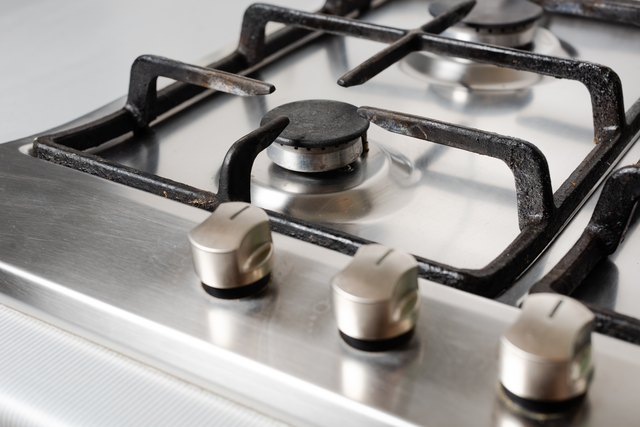 Clean and neat surface of gas stove