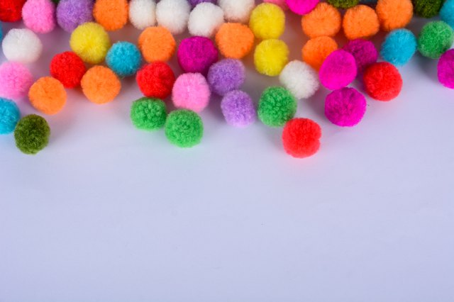 A colorful of Pom Pom background
