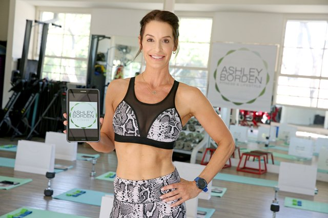 celebrity fitness trainer Ashley Borden's Fitness App Launch Event