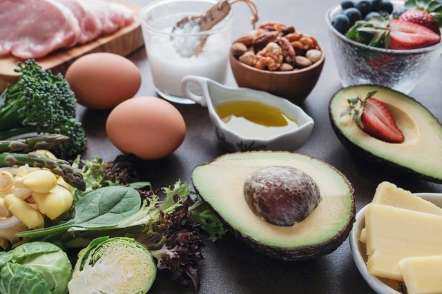 Ketogenic diet ,low carb, high fat, healthy food