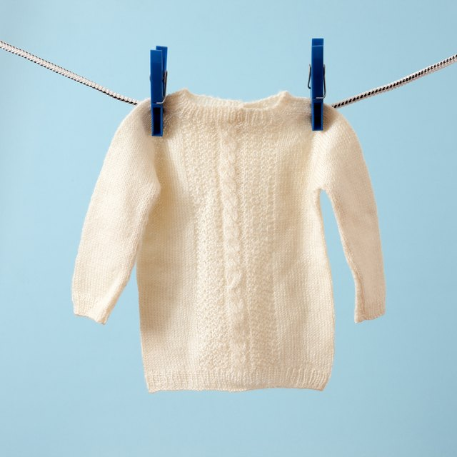 Hanging baby sweater