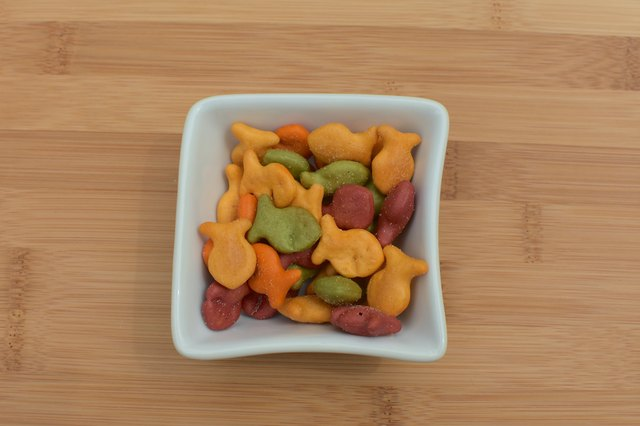 rainbow goldfish in bowl