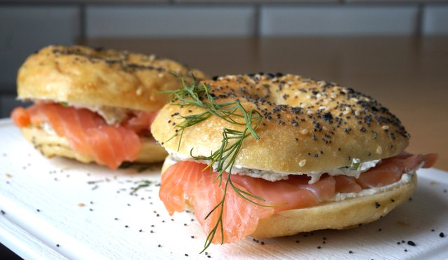 Lox bagel and cream cheese